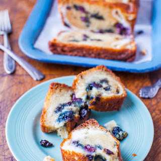 Blueberry and Cream Cheese Muffin Top Bread Recipe