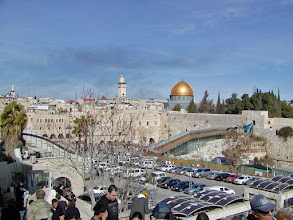 Photo: This time we actually visited the Wall.  Security here was extremely tight to enter the wall area.