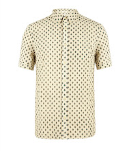 Photo: Grosvenor Short Sleeved Shirt>>  UK>http://bit.ly/LULgc6 US>http://bit.ly/OrAf48  The Grosvenor Short Sleeved Shirt is a 100% cotton, printed shirt. This style uses Japanese fabric with a mini paisley print and features a classic button down collar and a left chest pocket. The Grosvenor Shirt has had a heavy launder for a soft hand feel.
