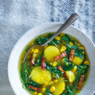 Potato, Leek and Corn Soup Recipe