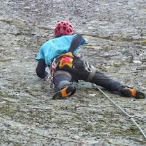 Fotos de escalada deportiva no encoro do Eume. 31 de marzo de 2019.