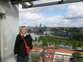 Photo: View from the funicular going up Gediminas Hill