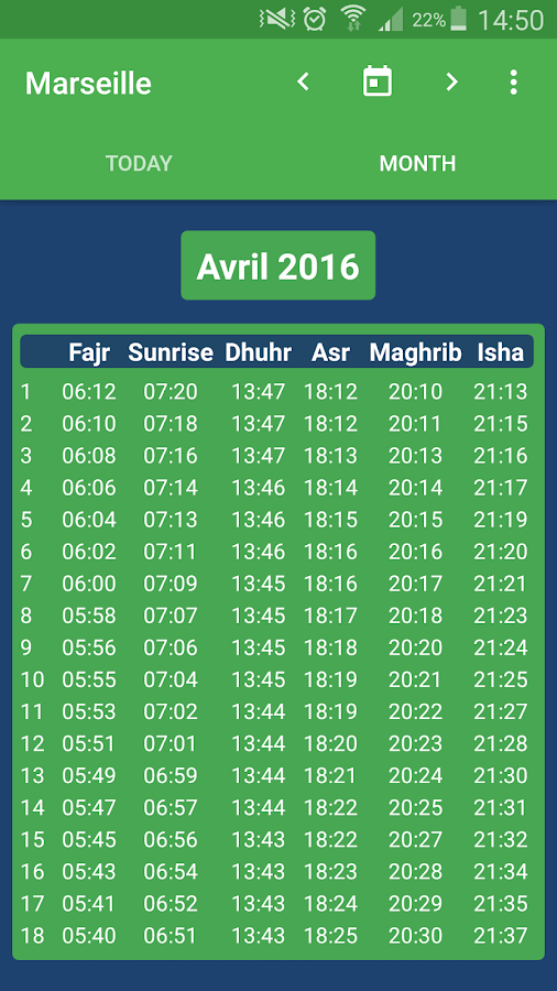 Muslim Salat Times- screenshot