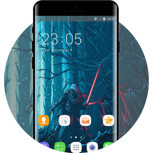 Theme for samsung galaxy j7 abstract