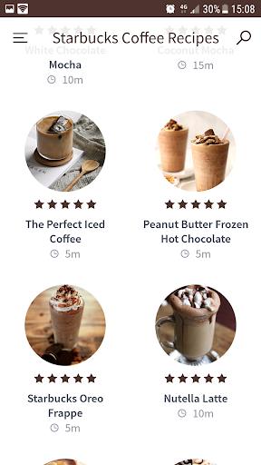 Starbucks Coffee Recipes screenshot