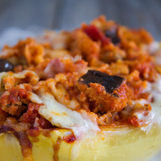 Eggplant Parmesan Spaghetti Squash Boats Recipe