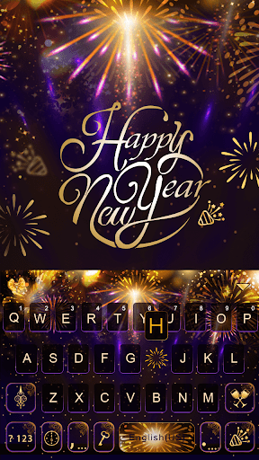 New Year Emoji Keyboard Theme