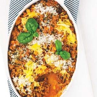 Roman Beef Spaghetti Squash Bake.