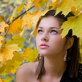 Autumn by Elena Hirtan - People Portraits of Women