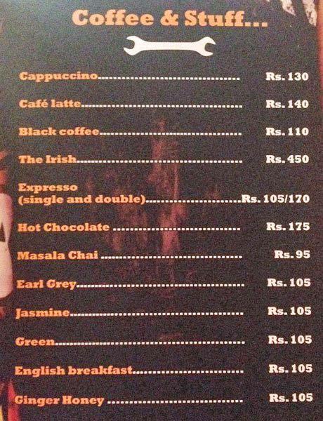 Garage Inc. menu 9