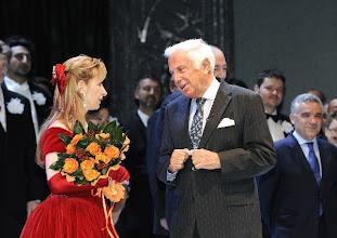 """Photo: Nathalie Dessay wurde am 20.4.2010 """"Österreichische Kammersängerin"""". Dessay nach der Sonnambula-Aufführung mit Staatsoperndirektor Ioan Holender. Photo: Zeininger"""