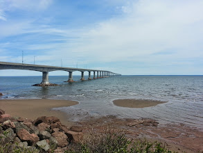Photo: Confederation bridge to Prince Edward Island.