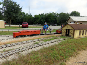 Photo: Randy Neville on the second train of the day.      HALS Public Run Day  2016-0716  RPWhite
