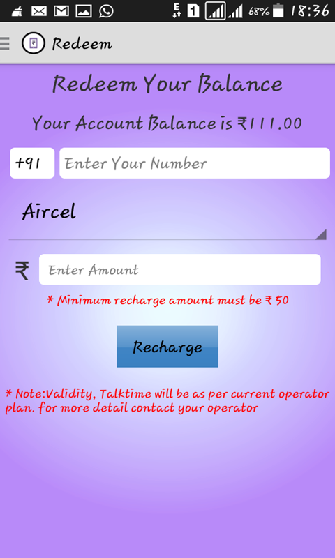 Earn Recharge™ Mobile Recharge- screenshot