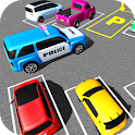 Police Jeep Spooky Stunt Parking 3D 2 icon