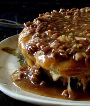 Buttermilk Skillet Cake With Pecan Praline Topping Recipe