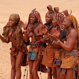 Himba ladies by Fred Goldstein - People Group/Corporate ( africa, ladies, people, sun, namibia )