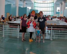 Photo: Boarding the Disney Dream with Minnie