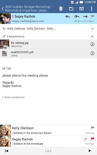 ASUS Email screenshot 10