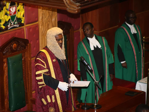 National Assembly Speaker Justin Muturi in Parliament
