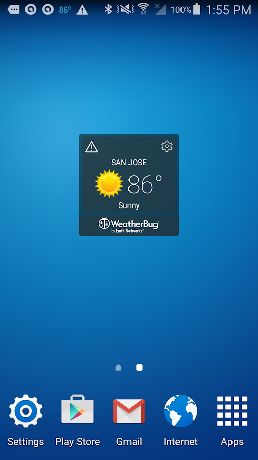 WeatherBug Time & Temp widget- screenshot
