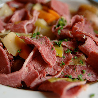 Corned Beef And Cabbage With Irish Mustard Sauce