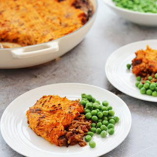 Curried Shepherd's Pie with Sweet Potato Mash Topping.