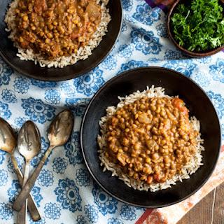 Slow Cooker Masala Lentils (gluten free, soy free).