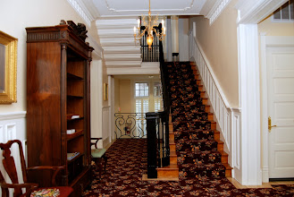 Photo: March 2007: Looking back toward the new stairwell. Large back windows bring light into the Front Hall.