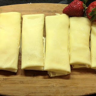 Creamy Cheese Fruit Blintzes