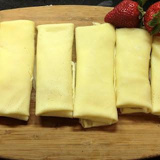Creamy Cheese Fruit Blintzes.
