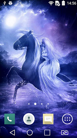 android Nice horsewoman live wallpaper Screenshot 1