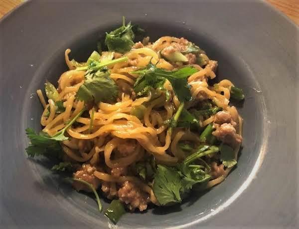 Oyster Sauce, Garlic, Chinese Egg Noodles W Pork