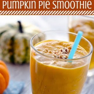 Healthy Pumpkin Pie Smoothie (Dairy and Sugar free)
