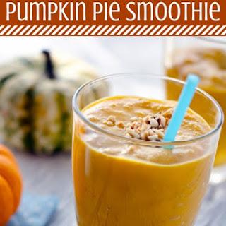 Healthy Pumpkin Pie Smoothie (Dairy and Sugar free).