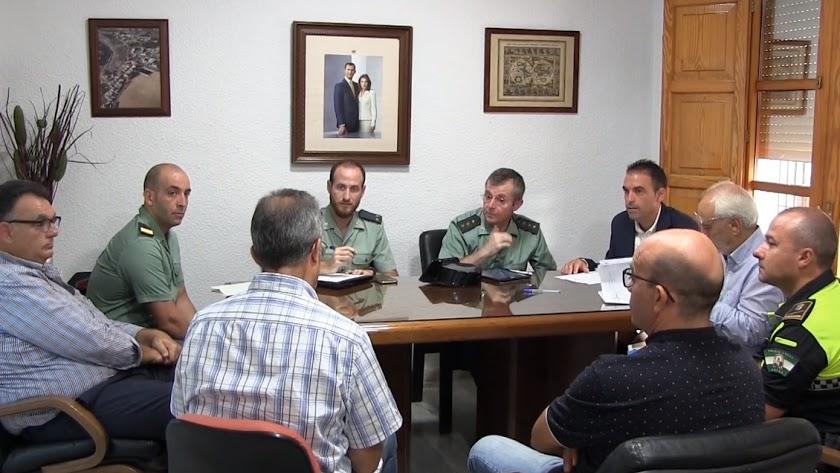 Cumbre de seguridad celebrada en Antas semanas atrás.