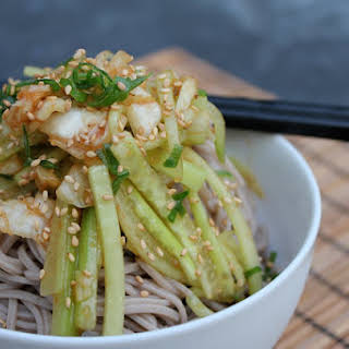 Korean Spicy Soba Noodles.