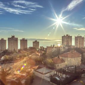 Sun in my neighborhood by Ivica Bajčić - City,  Street & Park  Neighborhoods ( rijeka, landscape photography, krimeja, photography, neighbourhood, sun )