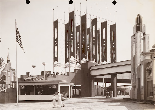 23rd St. entrance, A Century of Progress Exposition, Chicago 1933, Day view.