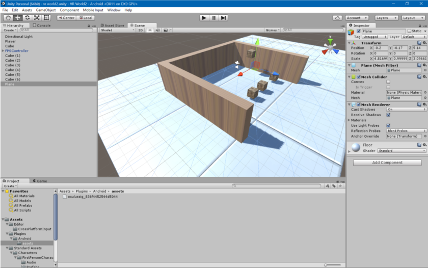 صنع اول تطبيق فى تقنية الواقع الإفتراضى حصرياً عبر المحرك المميز Unity