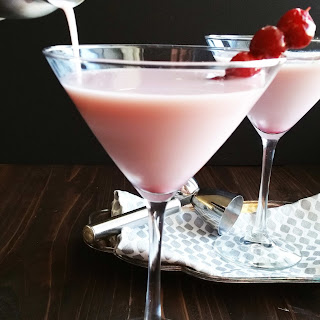 White Chocolate Cranberry Pink Martinis.