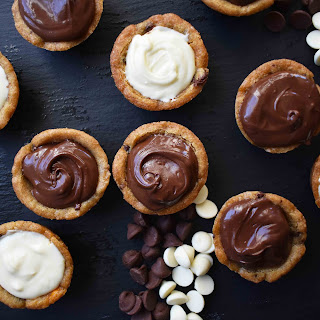 Chocolate Ganache Filled Cookie Cups.