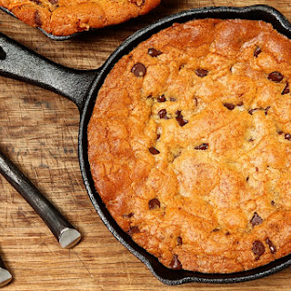 7. Peanut Butter Oatmeal Chocolate Chip Skillet Cookie