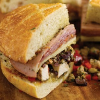 Muffaletta Sandwich with Grilled Chicken