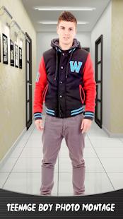 Dospívající chlapec fotografie montage - náhled