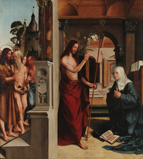 Jesus Christ appearing to the Virgin Mary (part of the Madre de Deus Altarpiece)