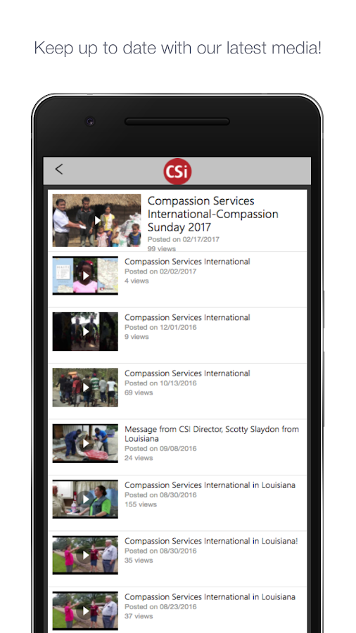 Compassion Services- screenshot