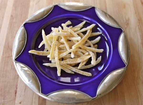 Candied Lemon Peels On Hanukkah Plate