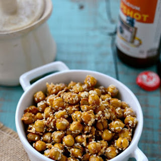 Honey Sesame Roasted Chickpeas.