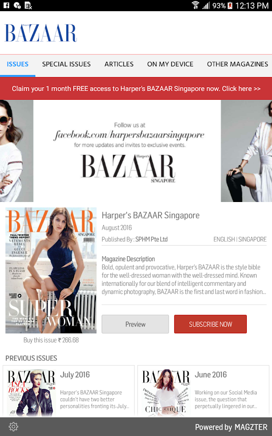 Harper's BAZAAR Singapore- screenshot
